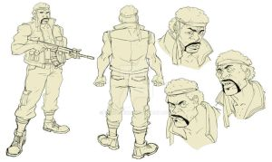 Soldier Character Design by ifesinachi