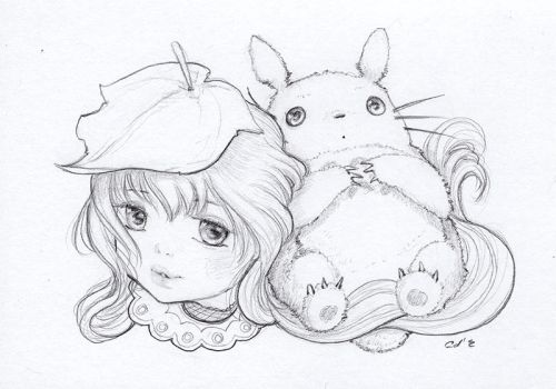 Totoro by camilladerrico