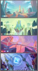 Game background concepts by SamSatode
