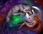 Lady and the wolf by KatreShka