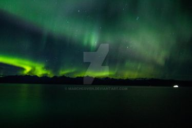 Northern lights Alaska  2 by MarchCoven