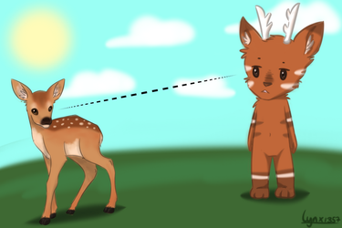 AT Seo meets deer by Lyncx-e