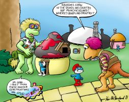 Fraggles 'n' Smurfs in Oz by Negaduck9