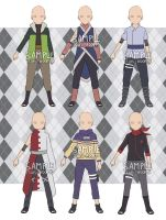 [OPEN] NARUTO OC OUTFIT SET 1 - SET PRICE by Tsuru-Adopts