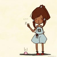 Korra and her icecream by jiee