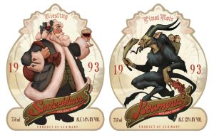Holiday Wine Labels by AudreyBenjaminsen