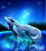 Silent howling by Irete