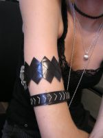 Lightning Arm Bands Complete by KitKatHeartAttack7