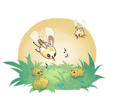 Cutiefly and Joltik by Ganemi