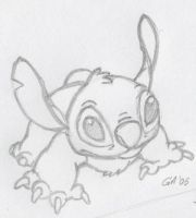 Stitch sketch by GrayAliEN