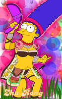 Marge Simpson as Zhu Rong by LeeRoberts