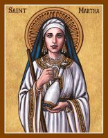 St. Martha icon by Theophilia