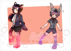 Adopt: FLOWER KITTY AND BUNNY BOY (OPENING) by Noramiml