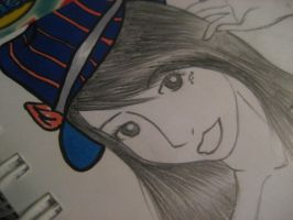 Fashionable - Face and Hat by bobblehead-kate