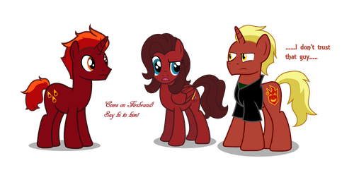 Come on Firebrand, Say hi to him! by Firefall-MLP