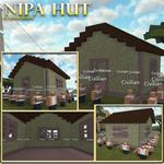 Roblox Model 412 -- Nipa Hut by Skyblue2005