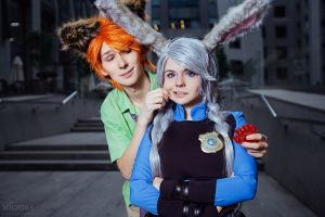 Judy and Nick - Zootopia by fenixfatalist