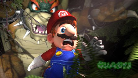 Mario being chased by Giga Bowser by quasyj