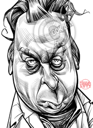 Christopher Hitchens by RussCook