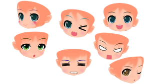 Project Mirai DX Faces [Download] by PriChama