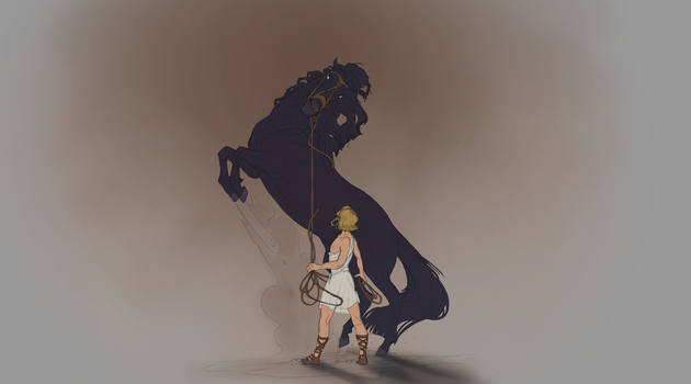 Boy and Nightmare by Roiuky