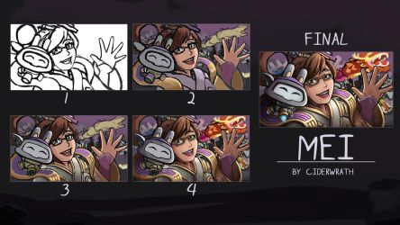 Mei - Painting Process by ciderWrath