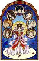 Fushigi Yuugi Stained Glass by Ranefea