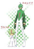 Pokemon: Ralts + Gallade by rHyme-iN-wOnderLand