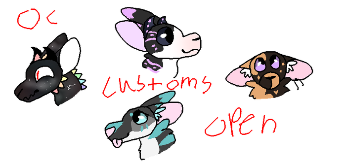OC Customs -OPEN- by OtterstepOfMoonclan