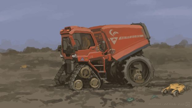 Agricultural Control Tractor by MikeDoscher