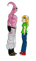 Staredown of Kylee and Buu by BigJohnnyCool