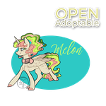 Prancing Ponies adoptables (Melon) OPEN by byDaliaPamela