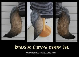 Medium Realistic curved canine tail-made to order- by stuffedpanda-cosplay