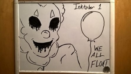 Inktober day 1: We All Float by PKBChaz