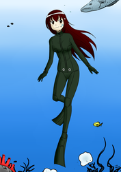 Underwater Tay Ayase - Color Commission by The-Sakura-Samurai