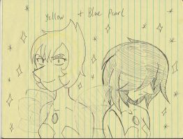 Yellow and Blue pearl Doodle by SonicMiku