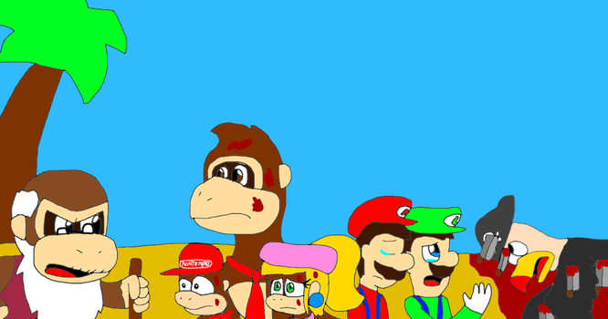 Cranky Kong is mad for killed Krow by alexeigribanov