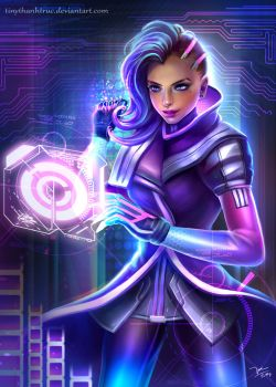 Sombra Overwatch Fanart by TinyTruc