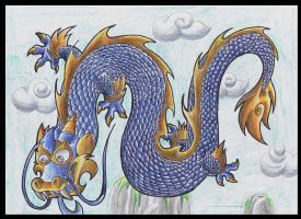 Blue Chinese Dragon. by Virus-20