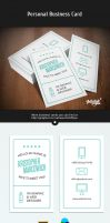 Typography Business Cards by Itembridge