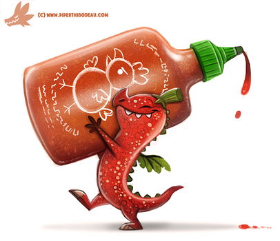 Daily Paint #1150. Pepper Dragon by Cryptid-Creations
