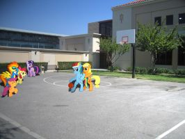 Friendly game of B-Ball by HAchaosagent