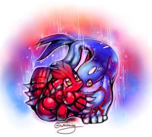 Pokemon Chibis: Groudon and Kyogre