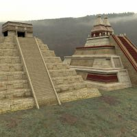 Mayan City Set 4 by VanishingPointInc
