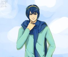 [Spin Off] Casual Marth by Sonic-Cake