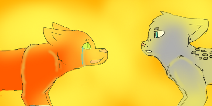 Ashfur and Squirrelflight. by Cookiestarisakitty