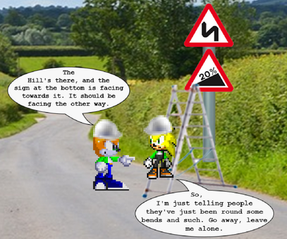 Made A Mess With Road Signs by Somcothehedgehog