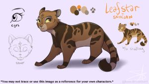 Leafstar of SkyClan Reference by GJKou