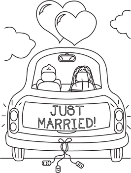 Just Married Coloring Page Coloring Pagescheekydesignz On Deviantart