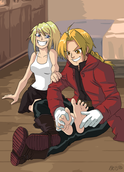 Tickle-Tickle, Winry! [commission] by Rgevskiy
